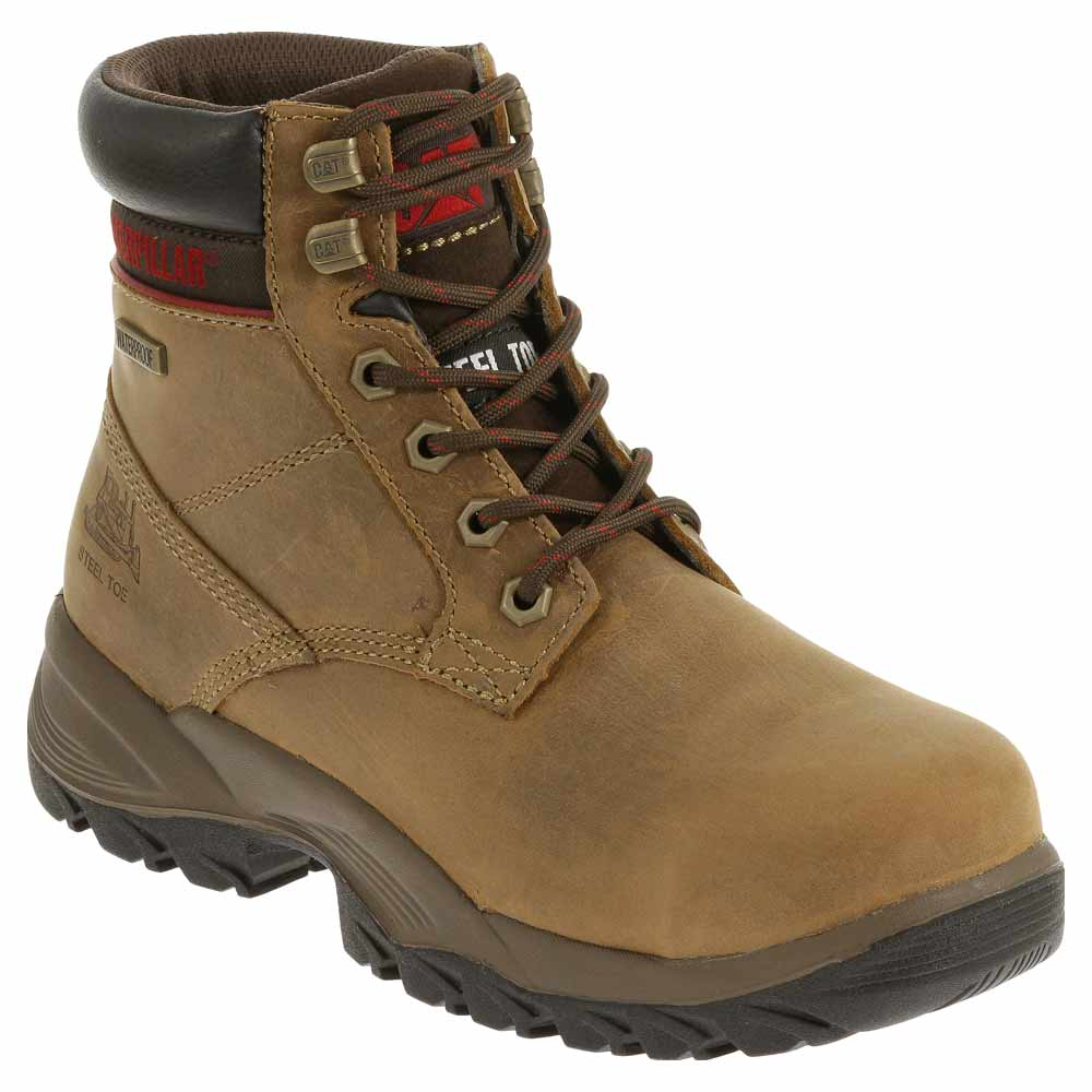 Waterproof Dark Beige Work Boot
