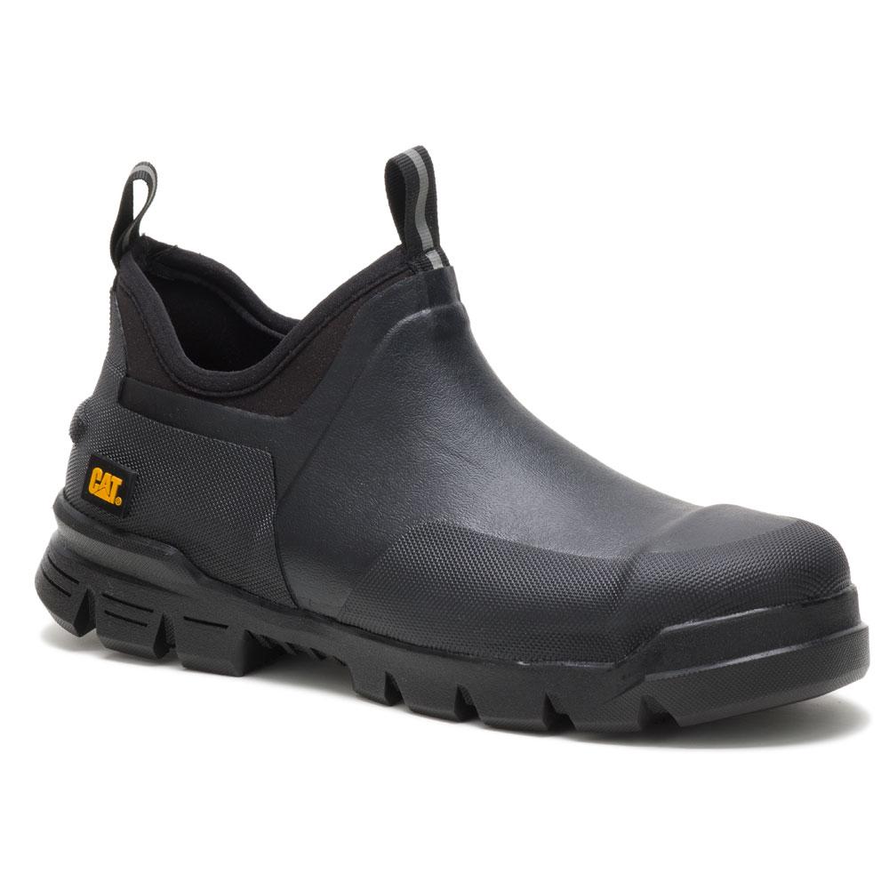 Stormer Black Steel Toe Rubber Work Shoe