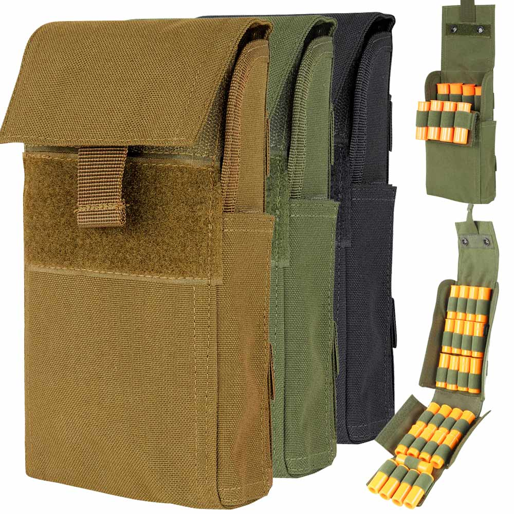 Condor MA61 OD Green Tactical MOLLE 25 Round 12 Gauge Shell Shotgun Reload Pouch