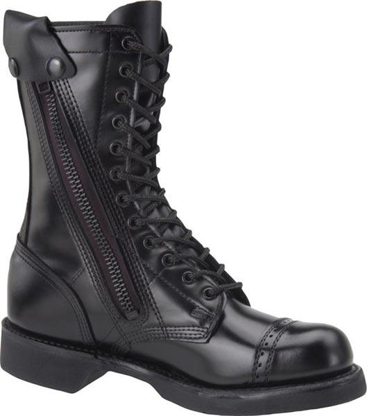 Corcoran Xc1585 Side Zip Combat Boot Men S Black Leather