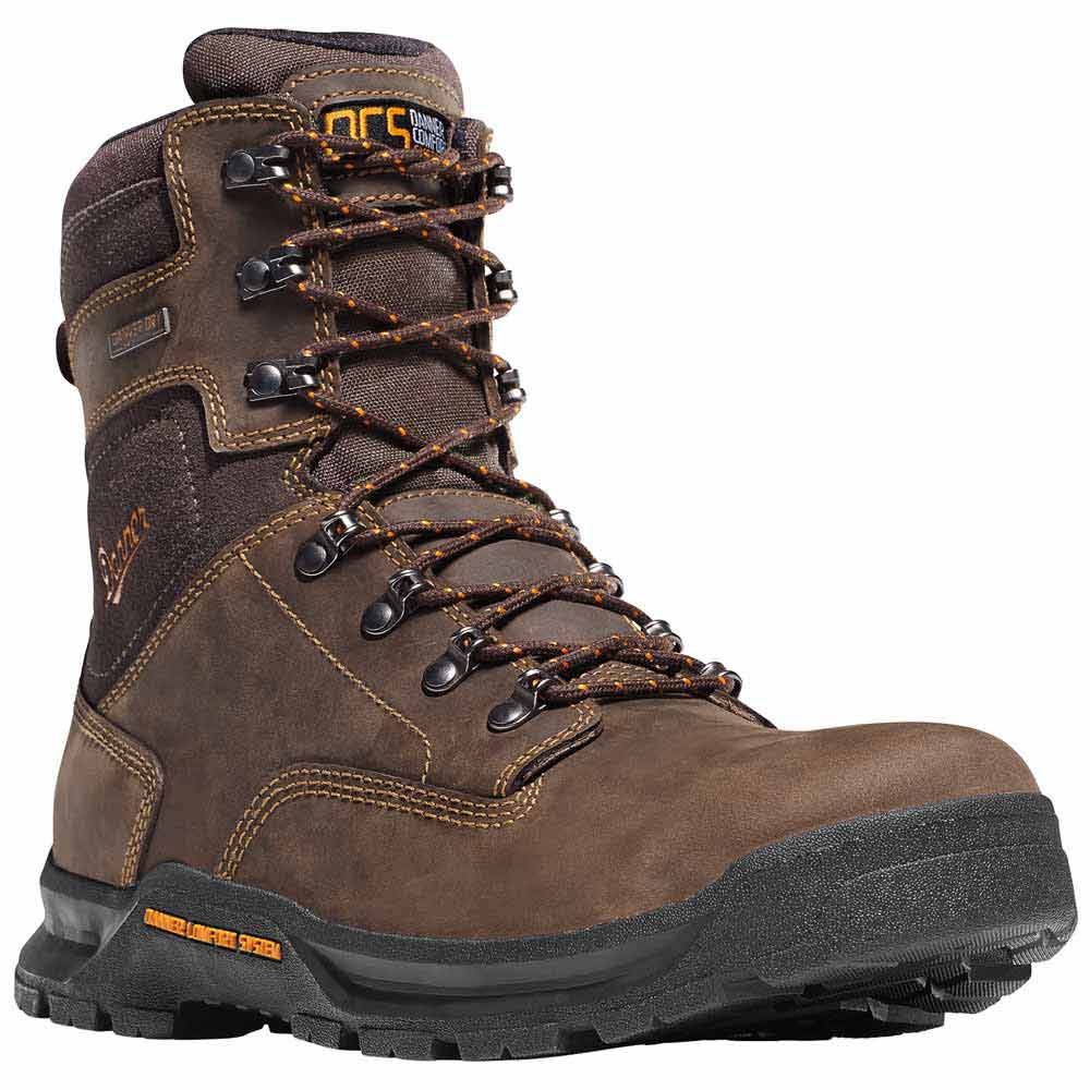 Danner Crafter 8 In Brown Safety Toe Waterproof Work Boot