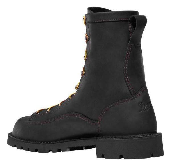 Danner 15544 Bull Run Black Leather 8 Inch Safety Toe Boots