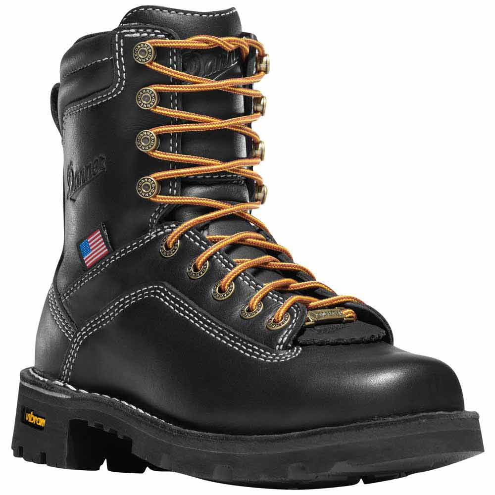 Danner Women S Quarry 7 In Black Steel Toe Wp Work Boot