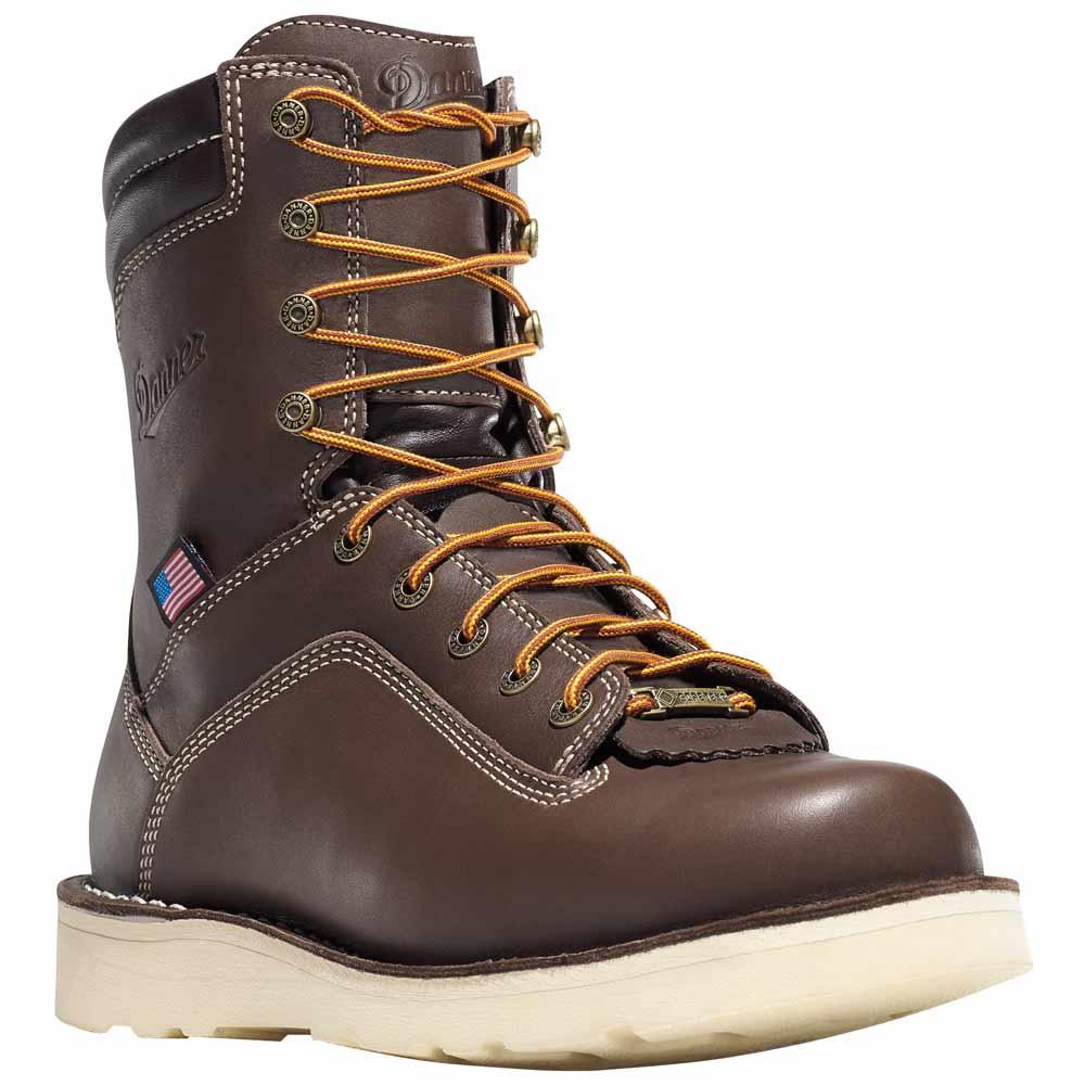 Danner Quarry 8 In Brown Waterproof Work Boot 17327