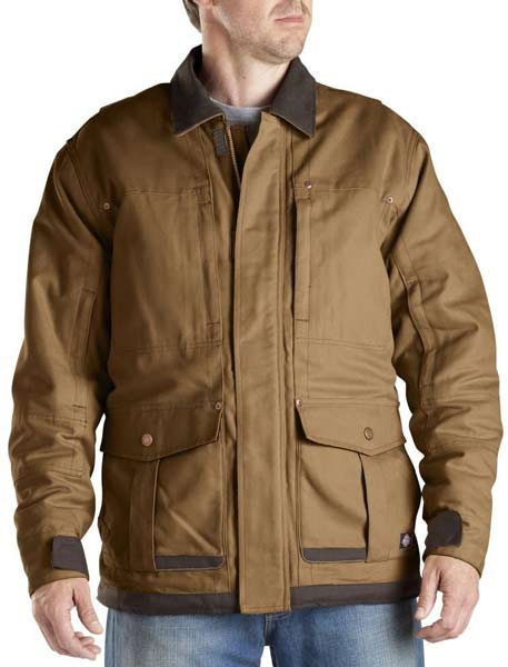 Dickies Brown Sanded Duck Coat Dickies Winter Coat