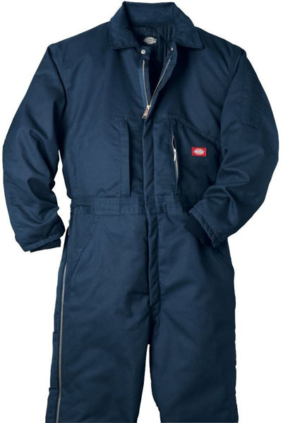 Dickies Navy Blue Twill Insulated Coveralls