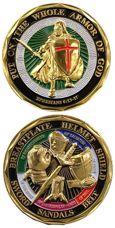 Armor Of God Ephesians 6 11 Challenge Coin Holy Soldier