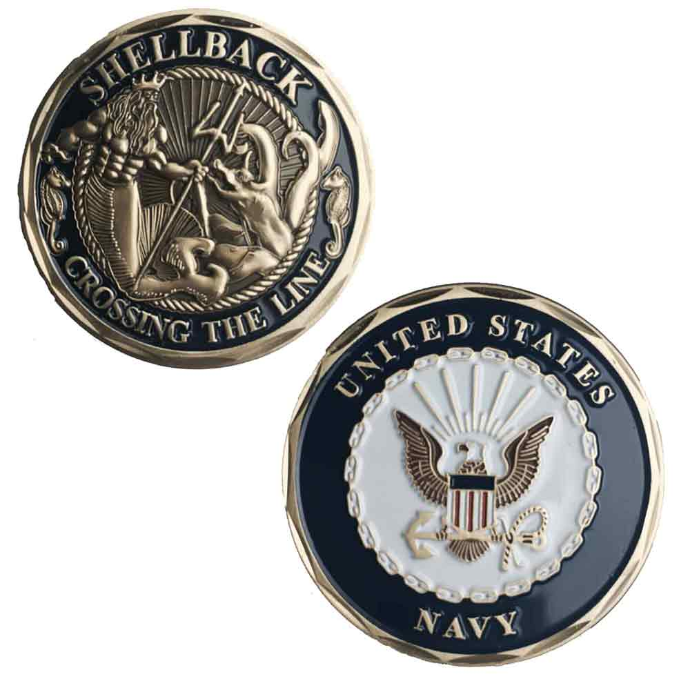 Us Navy Shellback Challenge Coin Navy Challenge Coin