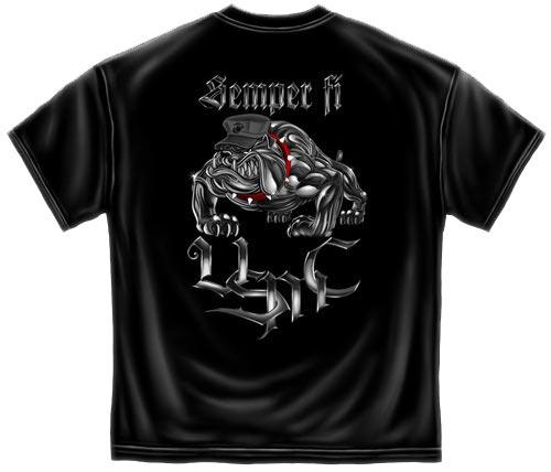 Steel Bulldog Semper Fi Usmc T Shirt Us Marines Tee
