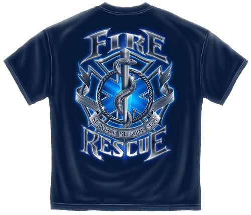 Service Before Self Fire Rescue T Shirt Firefighter Tee