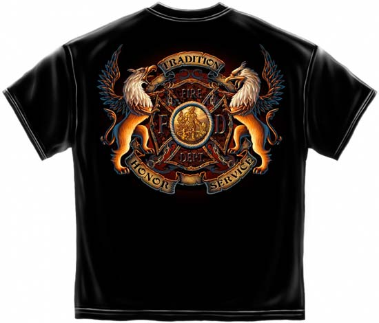 Fire Department Honor And Service T Shirt Firefighter