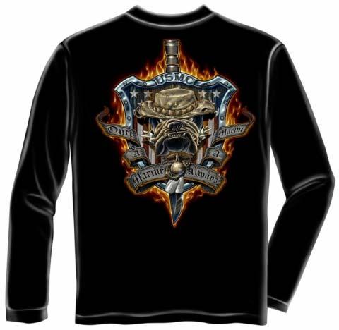 Once A Marine Always A Marine T Shirt Usmc Bulldog Tee