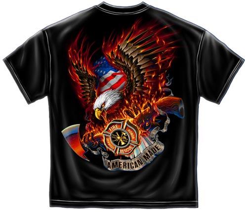 American Made Firefighter T Shirt Firefighter Tee Shirt
