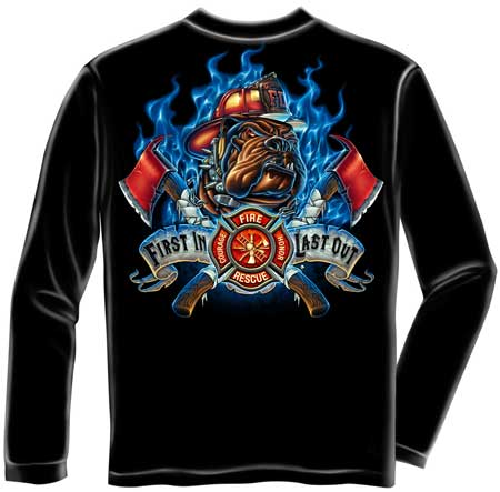 First in last out firefighter t shirt firefighter tee for Kicks on fire t shirt