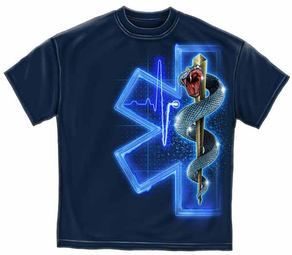Blue Star Blade Reviews >> Star of Life EMS T-shirt | EMT Tee Shirt - Short Sleeve