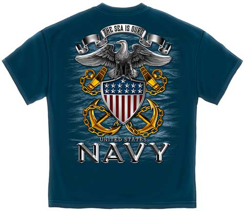 The Sea Is Ours Us Navy T Shirt Military T Shirts