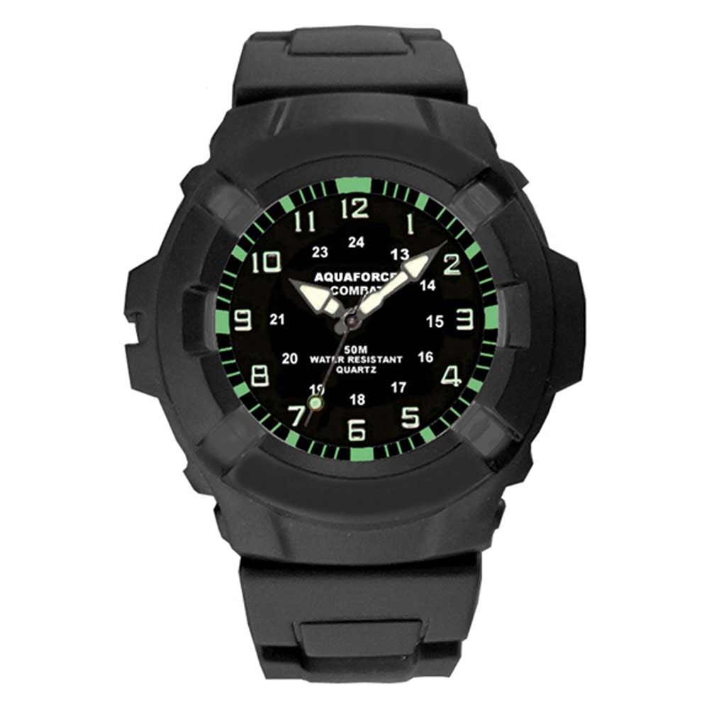 aquaforce 24002 all black analog wrist watch tactical watch