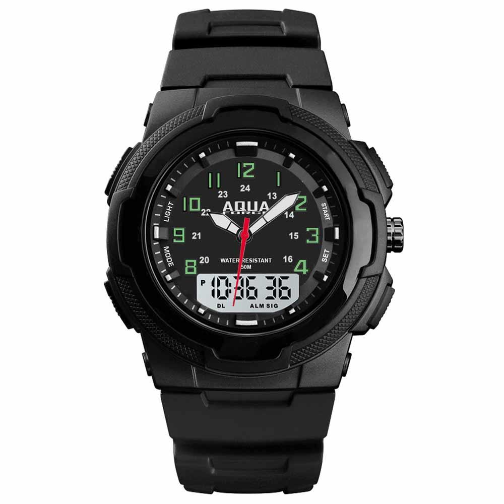 Aqua Force 48-002 Analog Digital Combo Tactical Watch