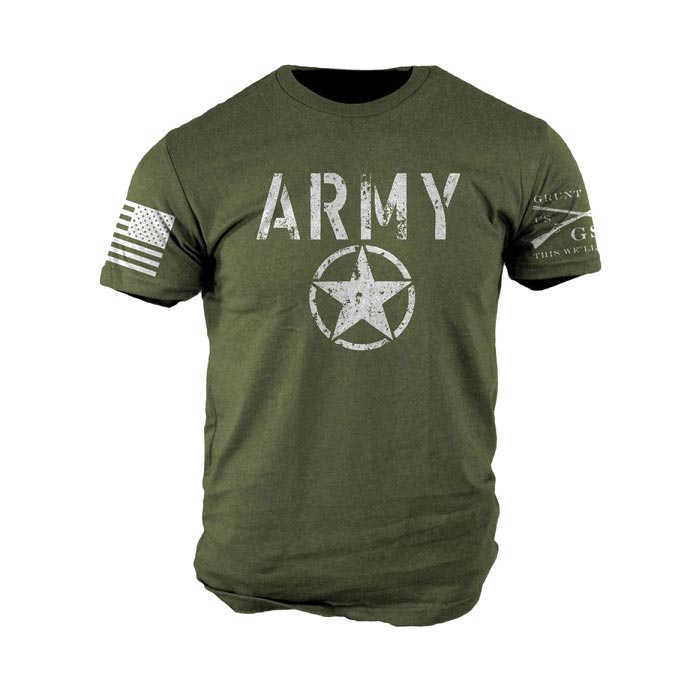 Grunt style army t shirt for Military t shirt companies