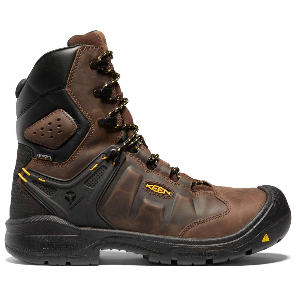 Keen Dover 8-Inch Brown Safety Toe