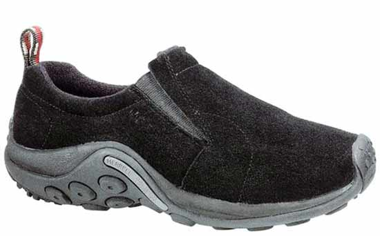 Merrell Jungle Moc Black Suede Leather Moccasin Merrell