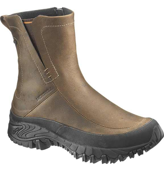 e3ef0b39 Merrell Shiver Brown Pull On Waterproof Winter Boots - J39573