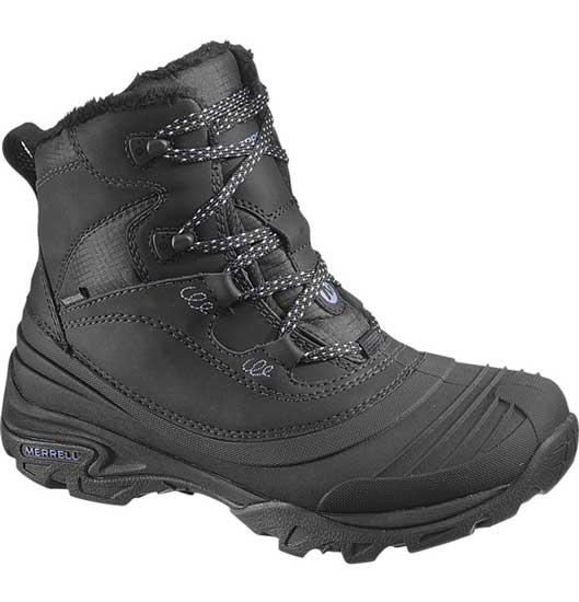 744cd579a0 Merrell Women's Snowbound Black Waterproof Insulated Boots - J55624