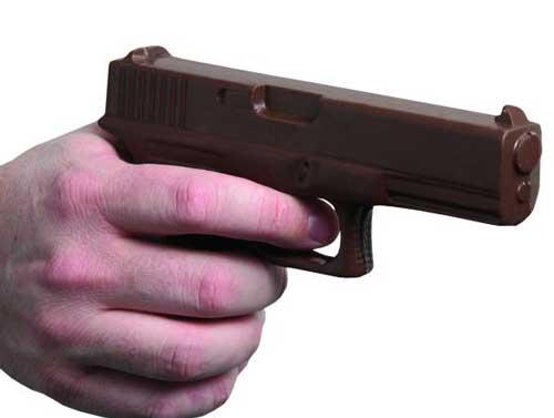 Chocolate Gun with Gun Case: Chocolate Hand Gun Gift Item