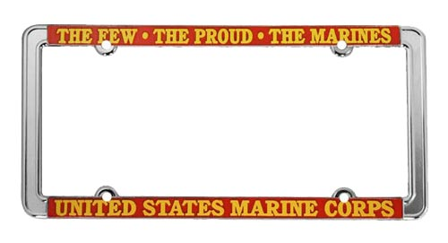 United States Marine Corps Thin Rim Metal License Plate Frame ...