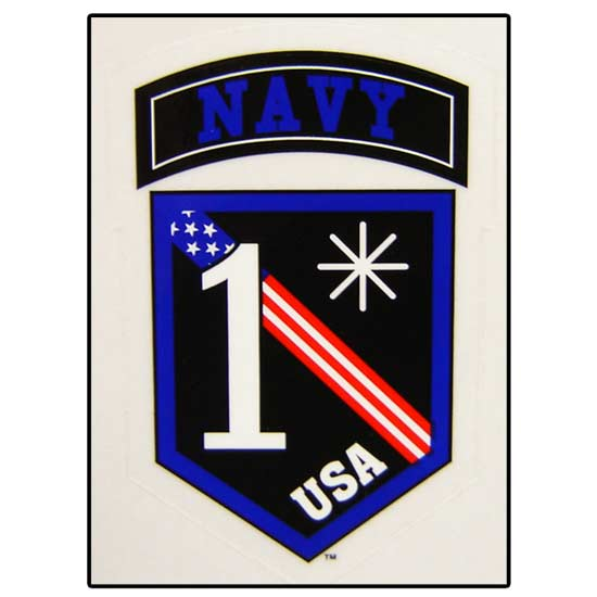 U S Navy One Asterisk Decal Military Stickers