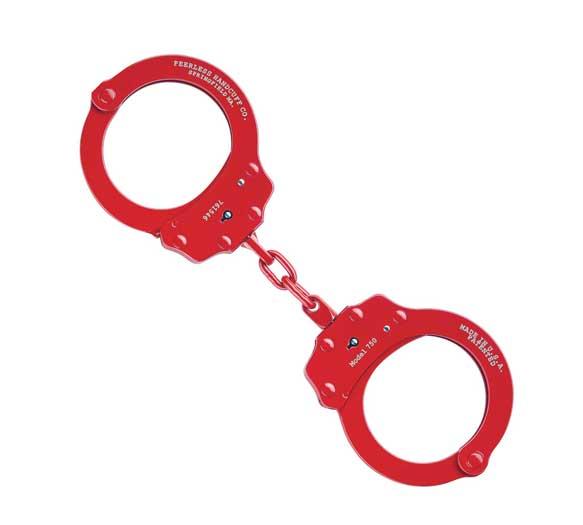 Peerless Red Plated Handcuff | Peerless 750R