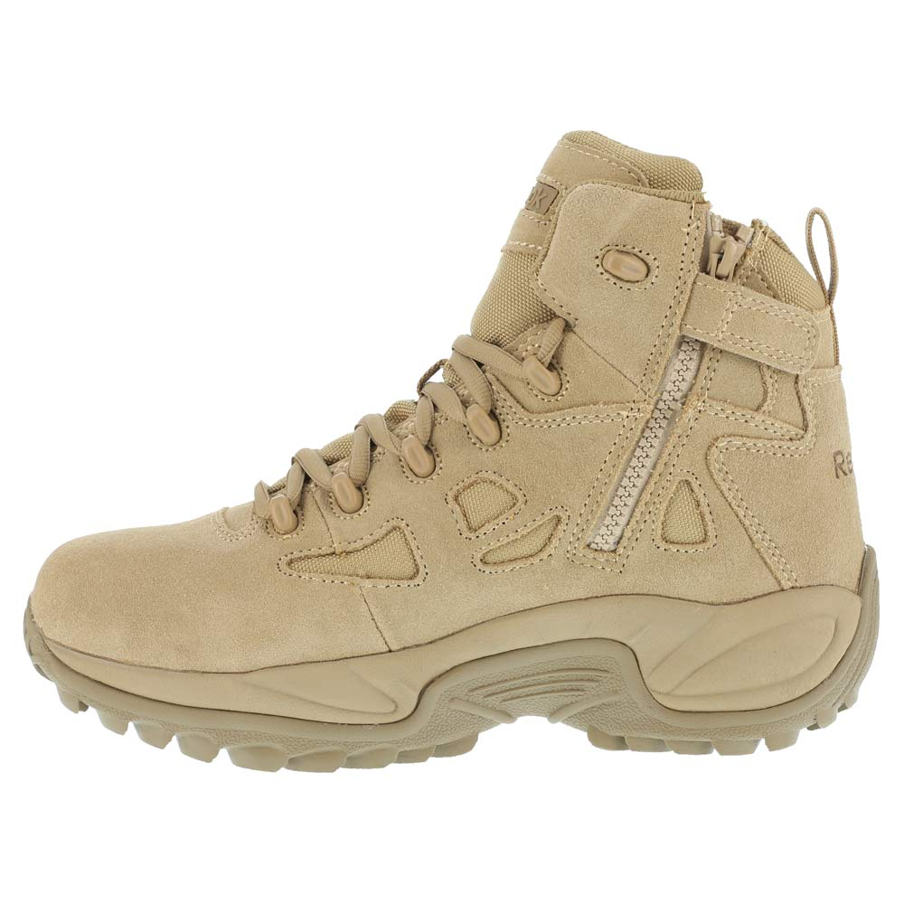 Reebok Mens Rapid Response 6 inch Desert Tan Side Zip Composite Toe  Military Boots - RB8694 · Share  a1140c96f