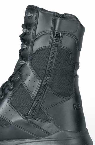 0d8aef56014 Reebok Dauntless Black Waterproof Soft Toe Side Zip Boot - RB8825