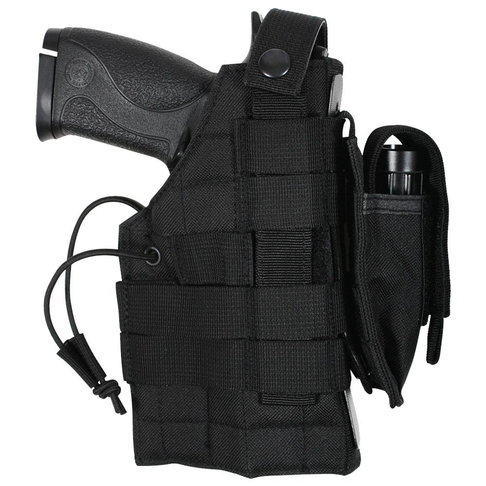 Molle Compatible Black Modular Ambidextrous Firearm Holster