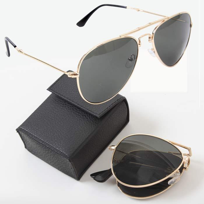 592601de2d2eb Folding Aviator Sunglasses