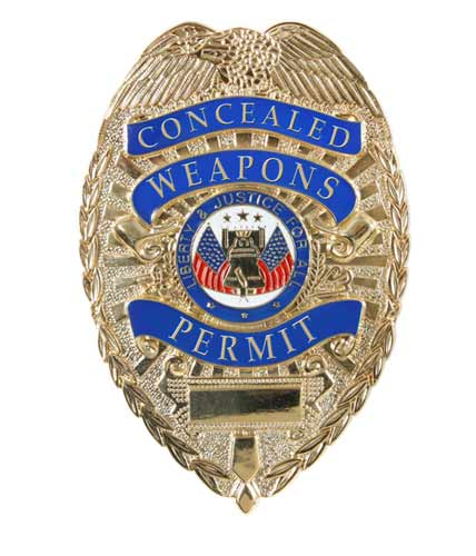 Deluxe Gold Concealed Weapons Permit Gold Law Enforcement
