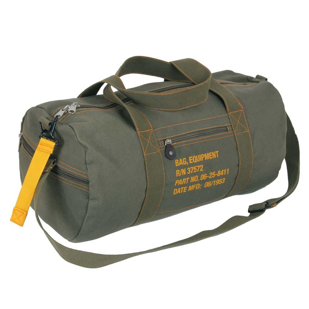Olive Drab Vintage Military Duffle Bag