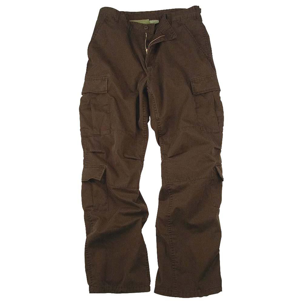 Brown Vintage Paratrooper Cargo Pants Vintage Military Pants