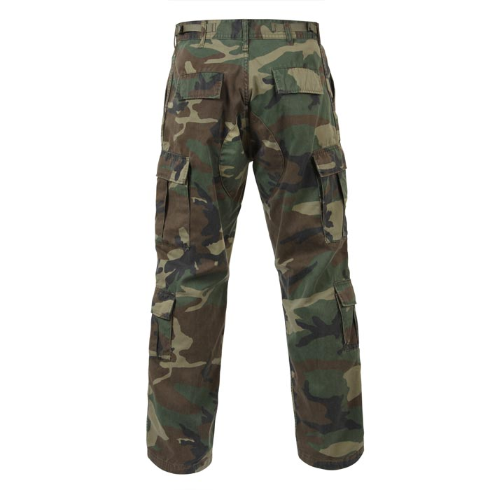 new products cute cheap hot sale Vintage Woodland Camouflage Cargo Fatigue Pants