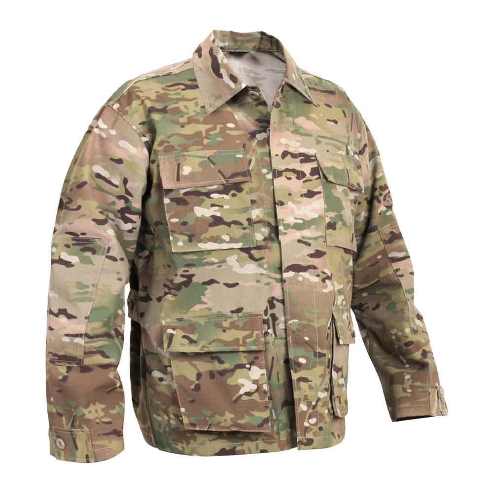 Basic Issue Multicam Ripstop Bdu Military Fatigue Shirt
