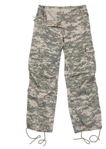 Women S Vintage Acu Digital Camo Paratrooper Pants