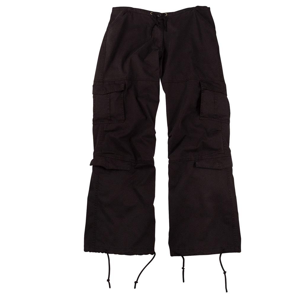 Womens Black Vintage Paratrooper Pants; Military Fashion ...