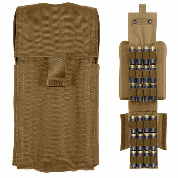 Coyote Molle Shotgun Airsoft Ammo Pouch