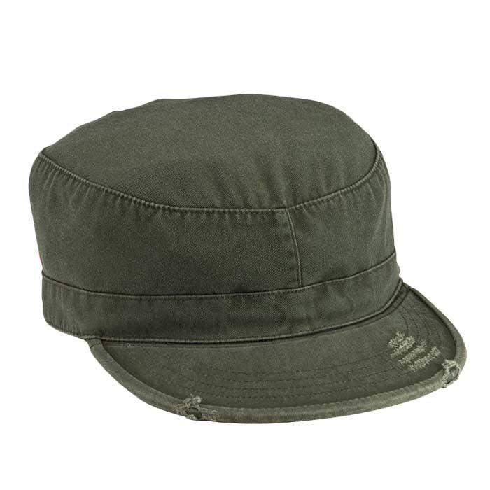 d73caf4bd55c0c Olive Drab Vintage Patrol Cap | Vintage Military Hats