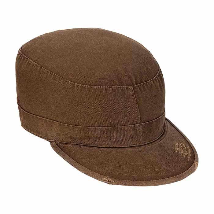 Brown Vintage Patrol Cap Vintage Military Hats