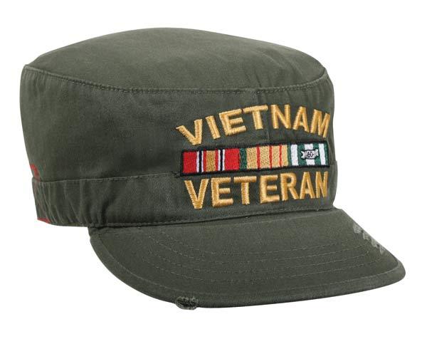 Vintage Olive Drab Vietnam Vet Patrol Cap