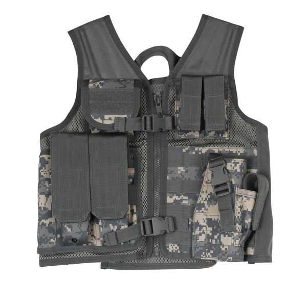 Kids Cross Draw Tactical Vest In Acu Camouflage