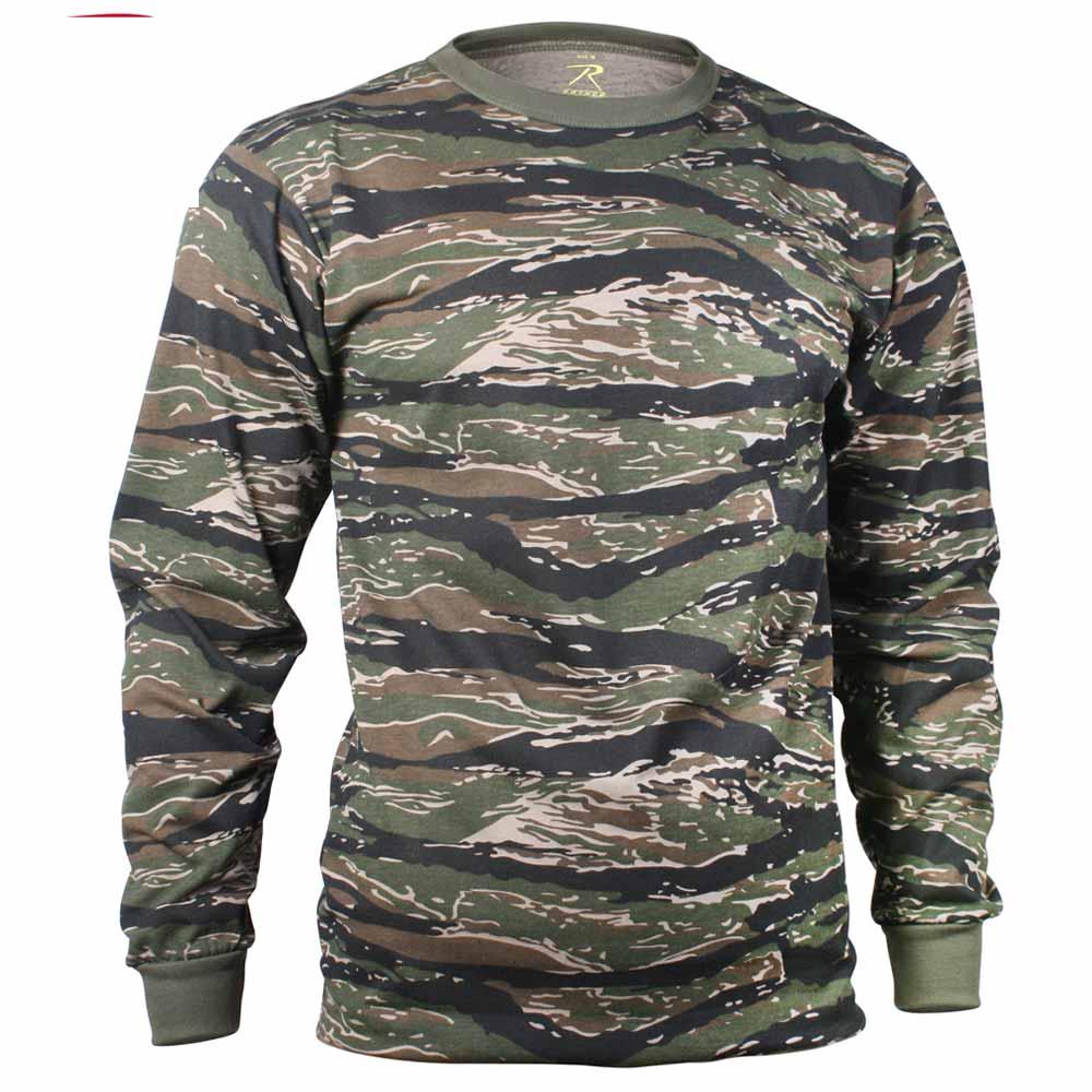 Men S Long Sleeve Tiger Stripe Camo T Shirt
