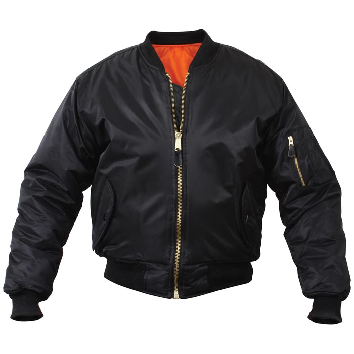 vert olive USA flight jacket Blouson de pilote MA1 Bomber/'s US noir ou bleu