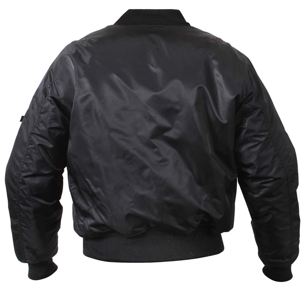 c833075347a Black Military MA-1 Flight Jacket